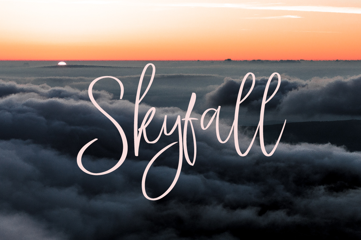 StayHigh Signature Font example image 6