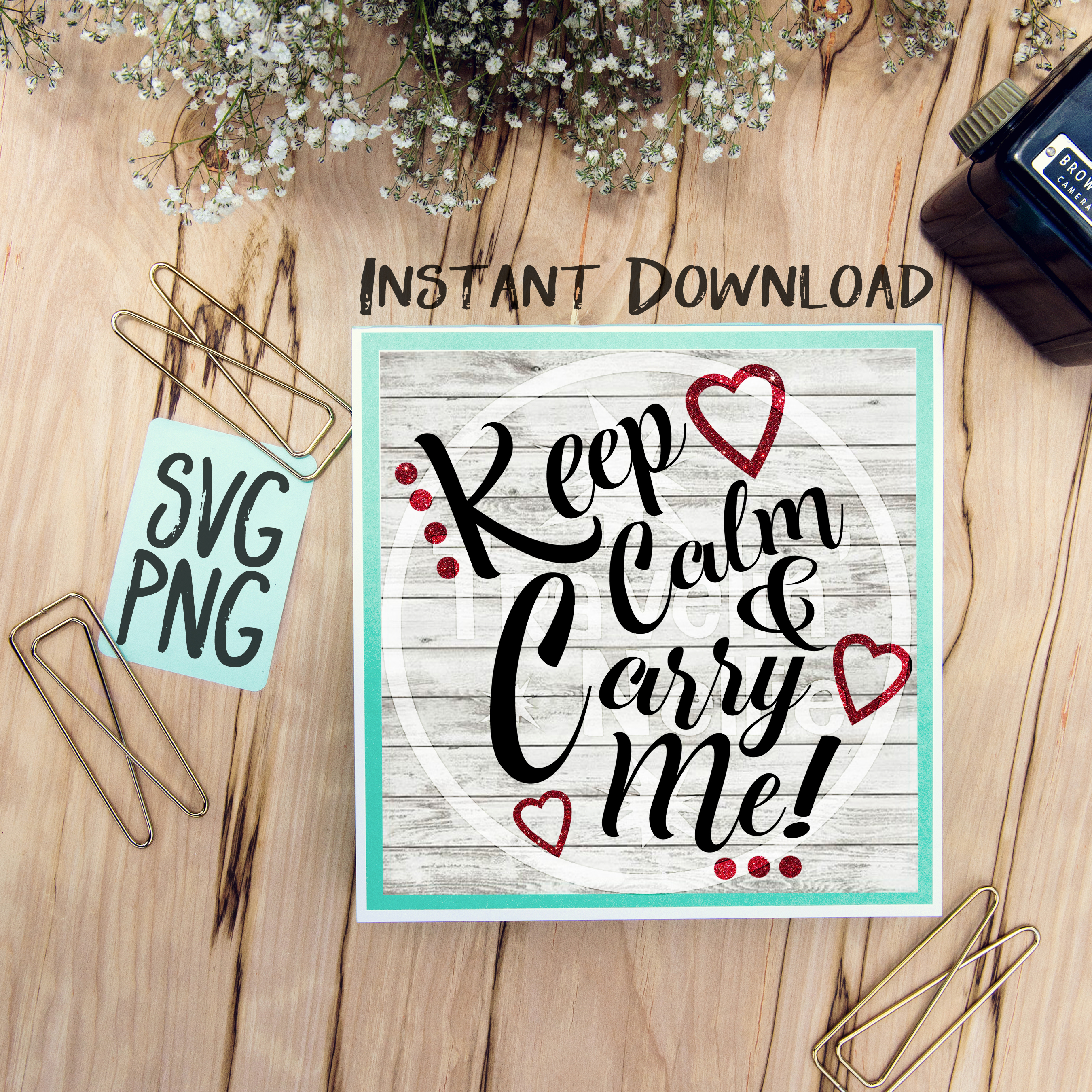 Keep Calm & Carry Me SVG Image Design for Vinyl Cutters Print DIY Shirt Design Brother Cricut Cameo Baby Child Kid Funny example image 1