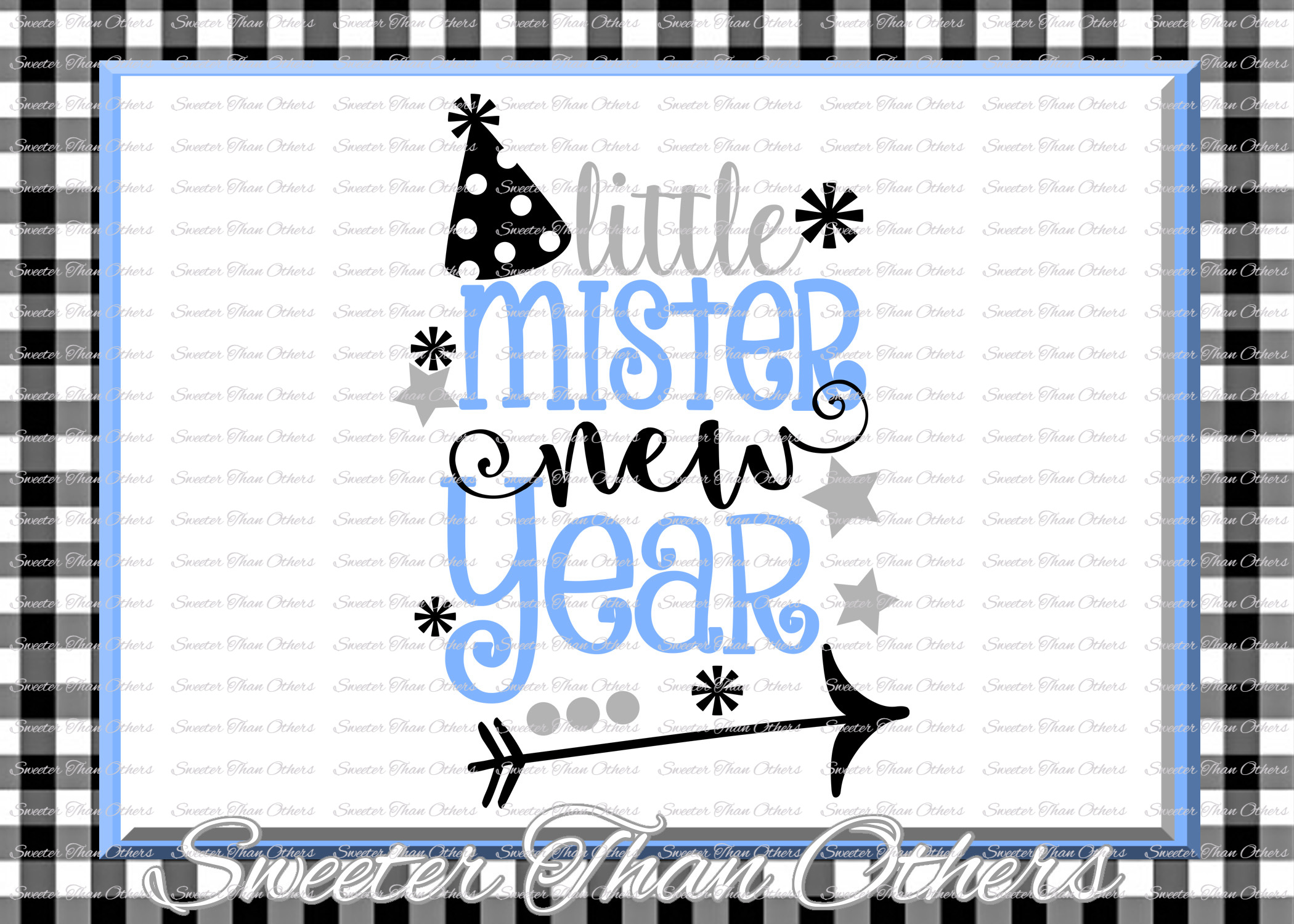 Little Mister New Year svg, New Year 2018 SVG example image 1