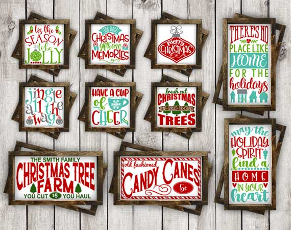 Christmas SVG Bundle-cut files for Cricut, Silhouette example image 2