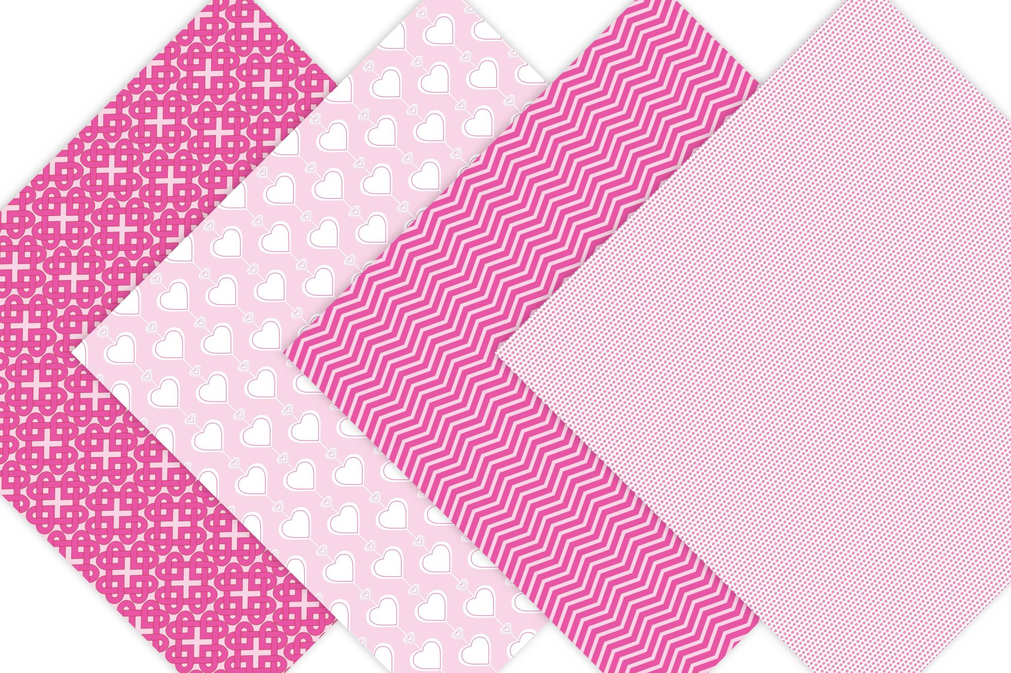 Pink Valentine Digital Paper example image 3