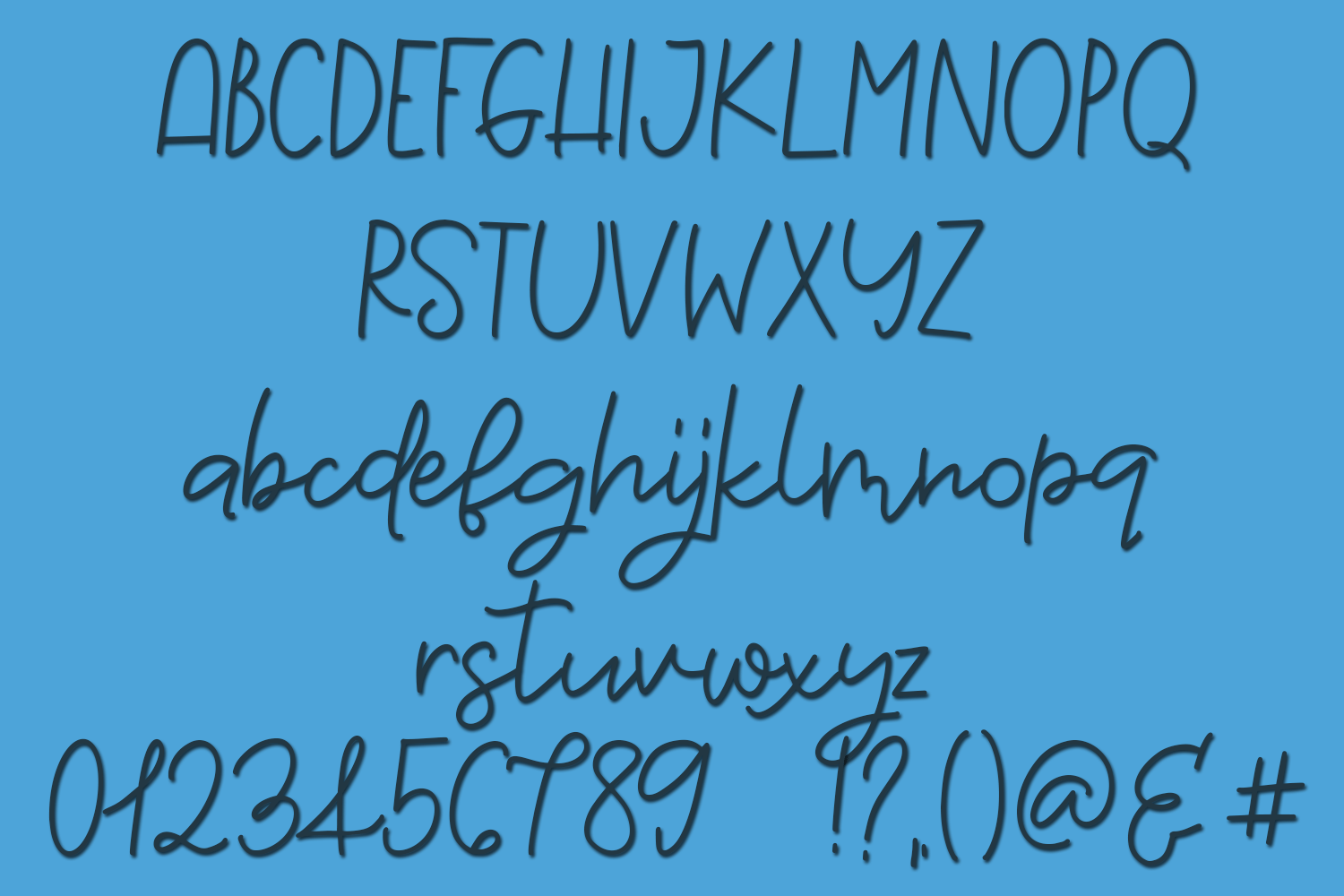 Dancing Peacock - A Script and Print Font Pair example image 2