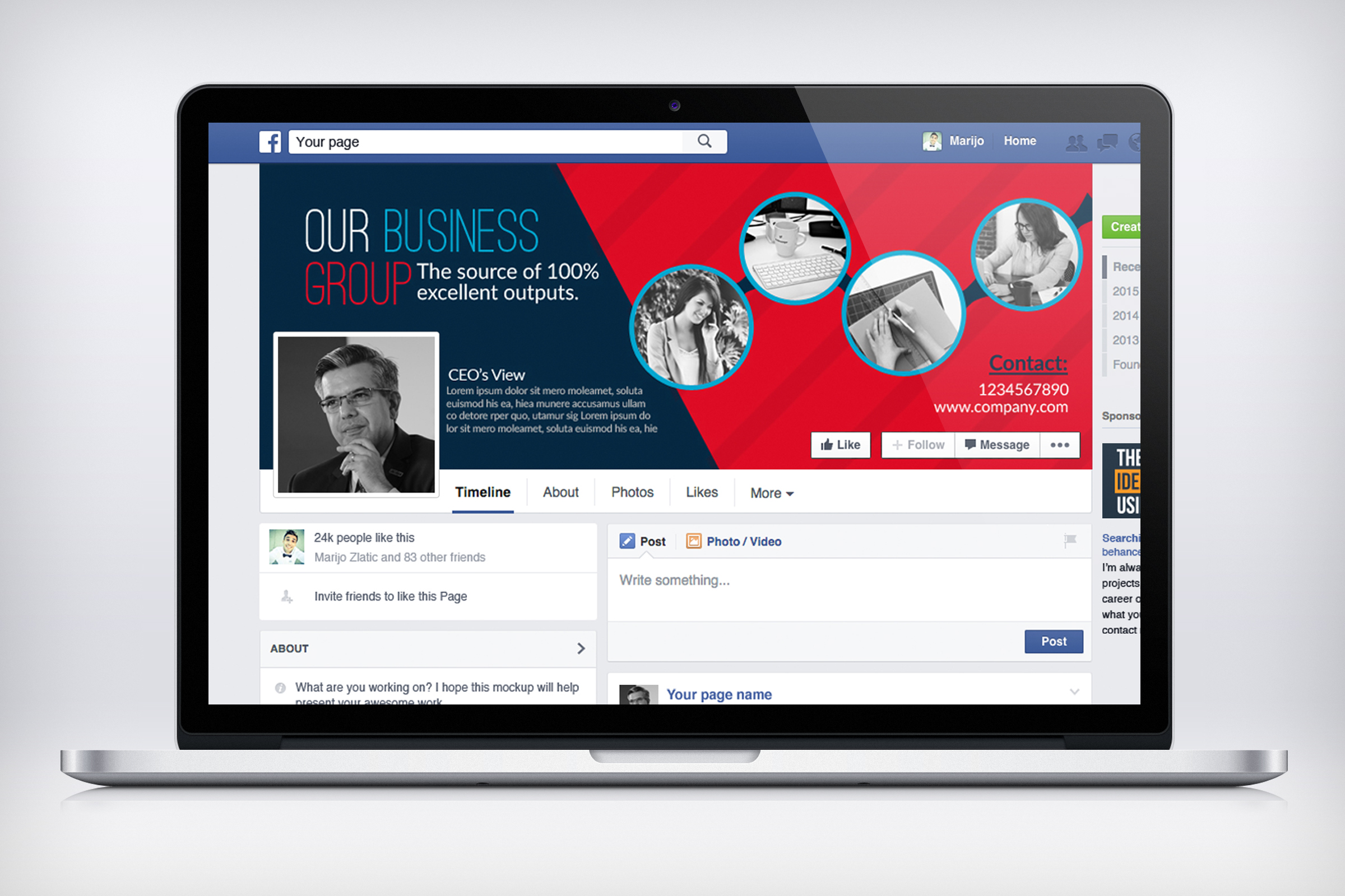 Business Facebook Timelines example image 3