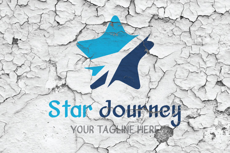 Airplane Star Travel Logo example image 4
