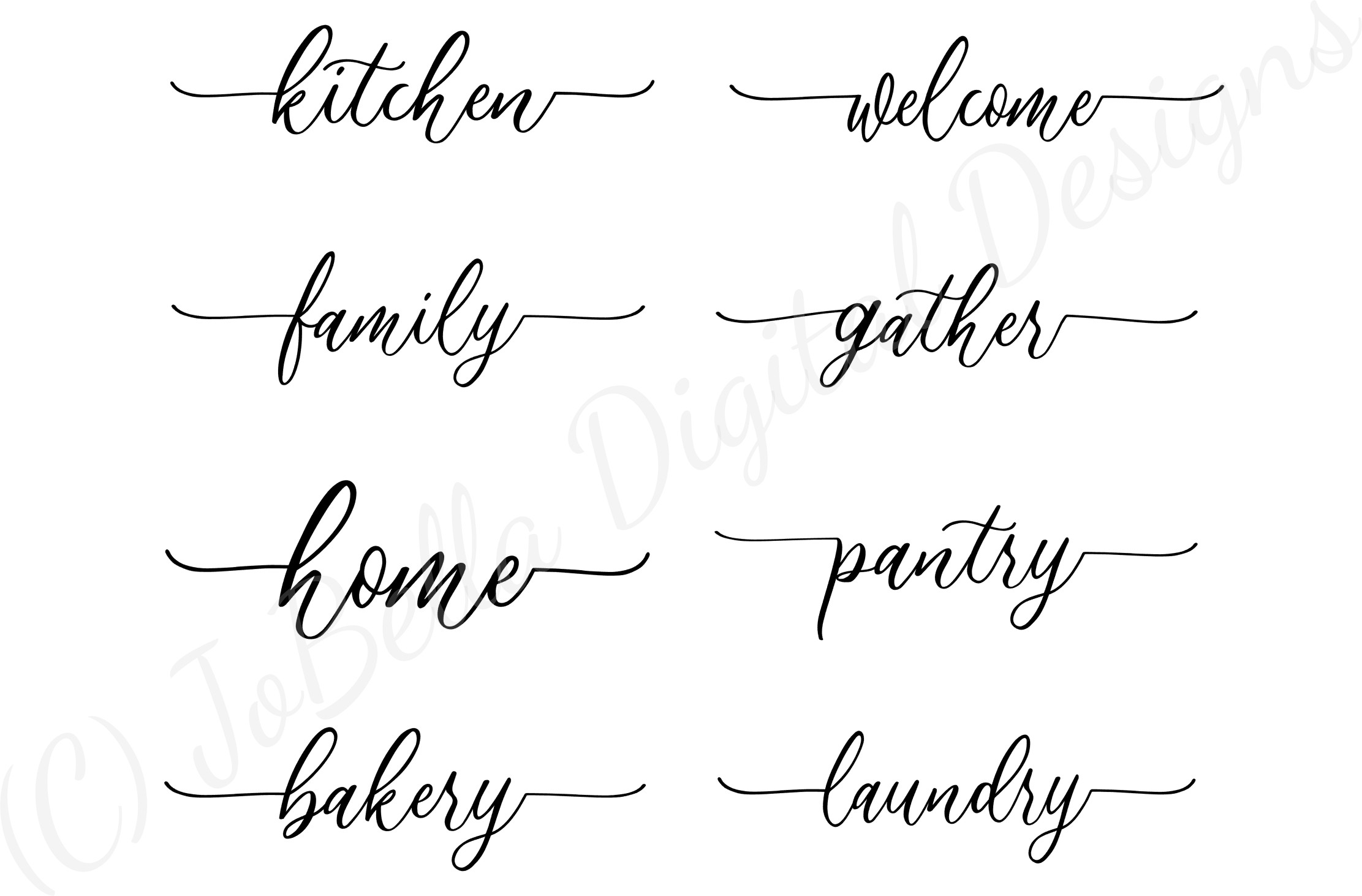 Farmhouse Home Words SVG Bundle, PNGs and Printables example image 10