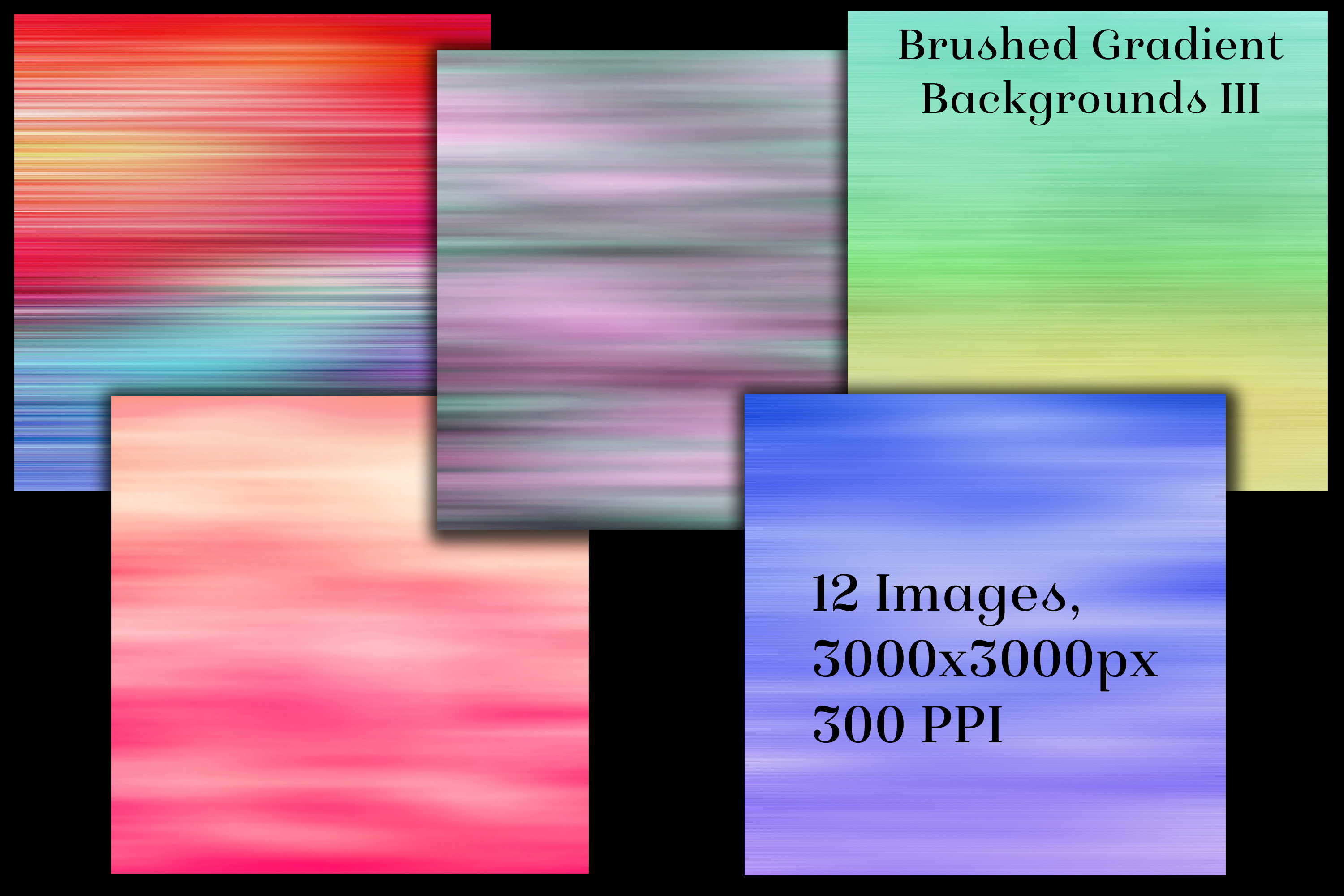 Brushed Gradient Backgrounds III - 12 Image Textures Set example image 2