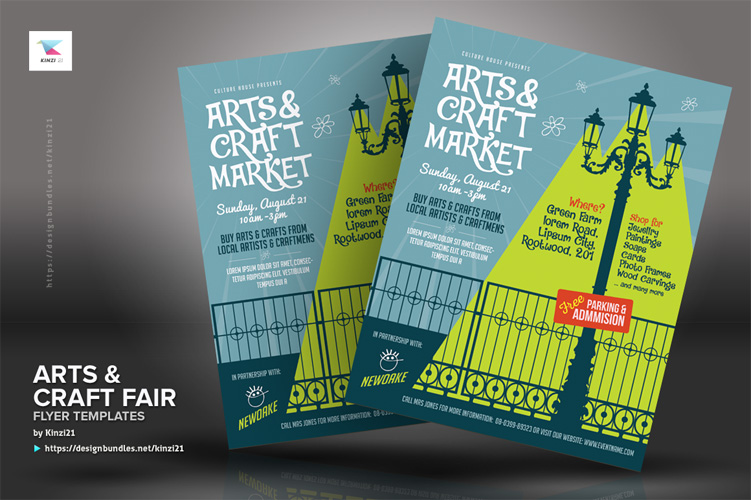Arts & Craft Fair Flyer Templates example image 5
