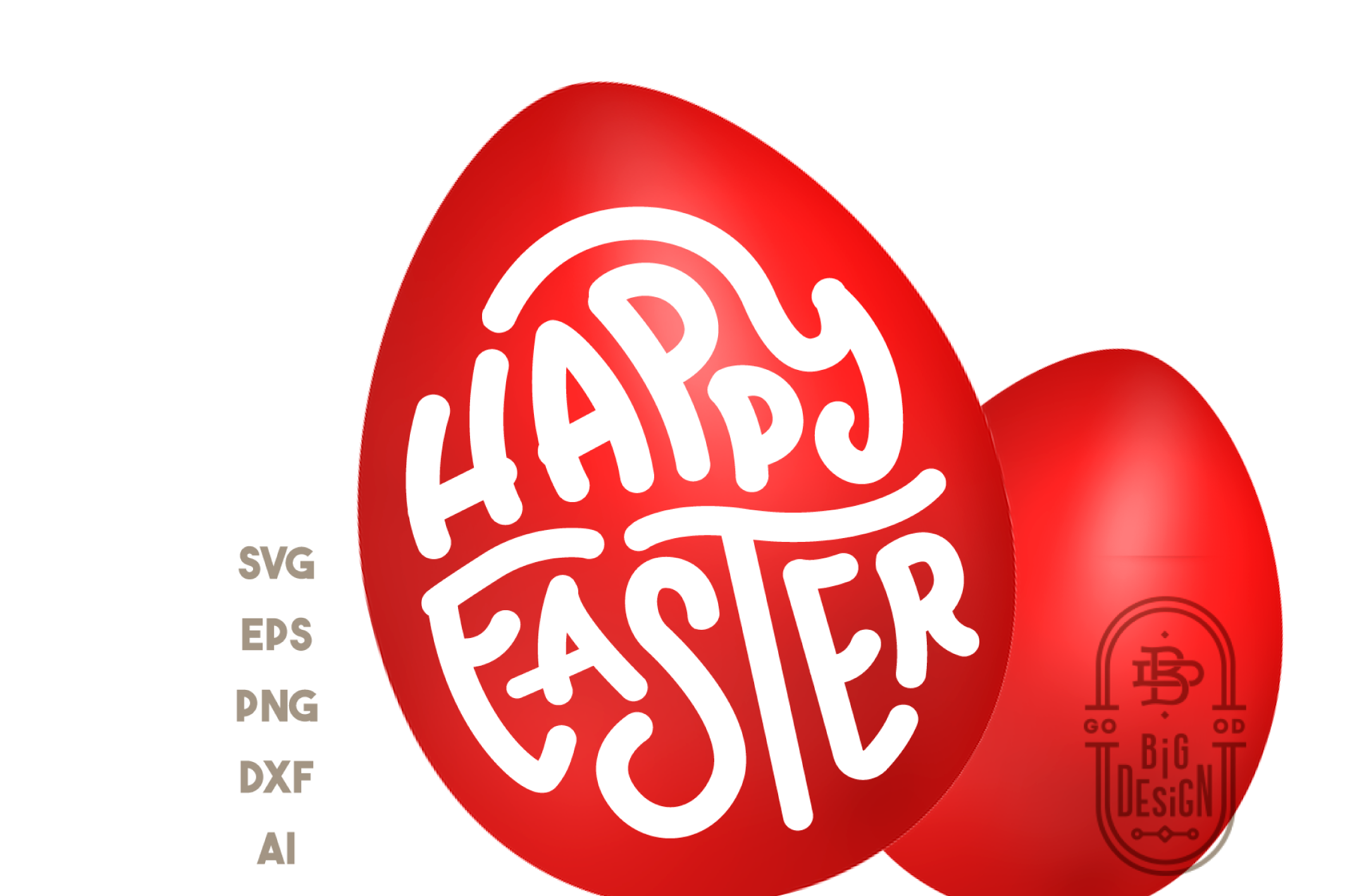 Happy Easter SVG - Easter Saying SVG Cut File example image 2