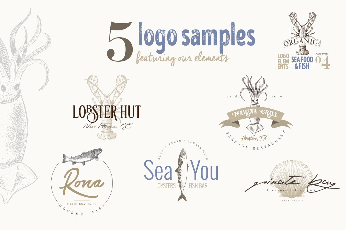4 IN 1 ORGANIC LOGO ELEMENTS 60% OFF example image 13