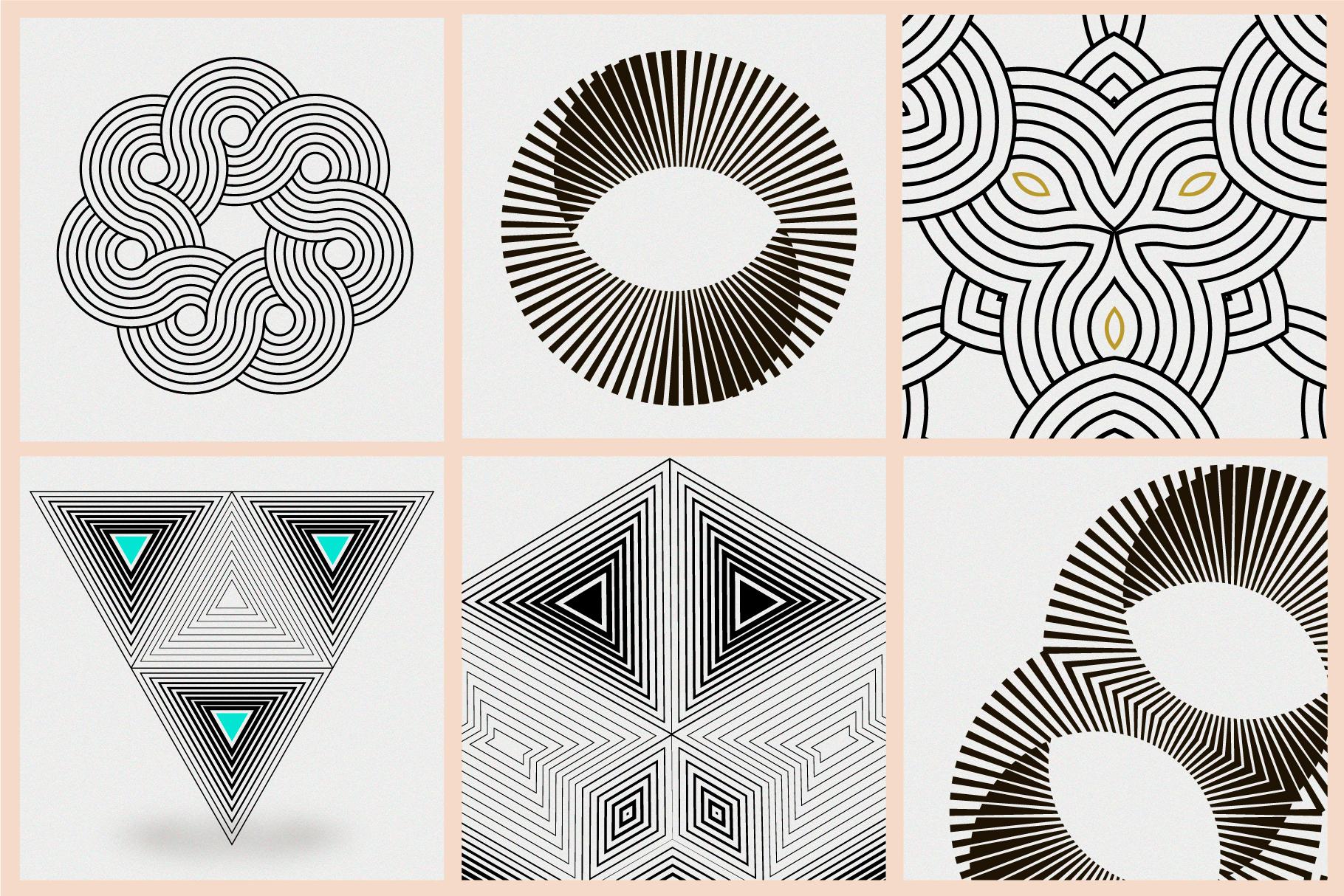 Illusion linear geometric shapes example image 5