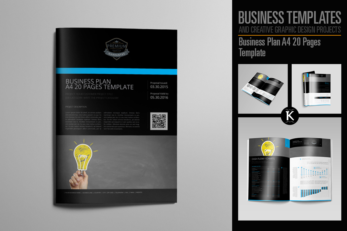 Business Plan A4 20 Pages Template example image 1
