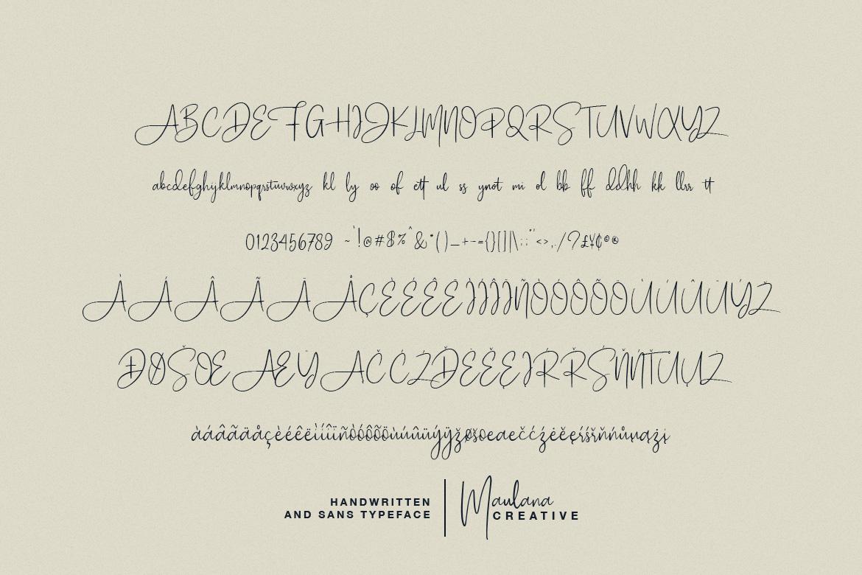 Poliesster - Font Duo Script Sans example image 9