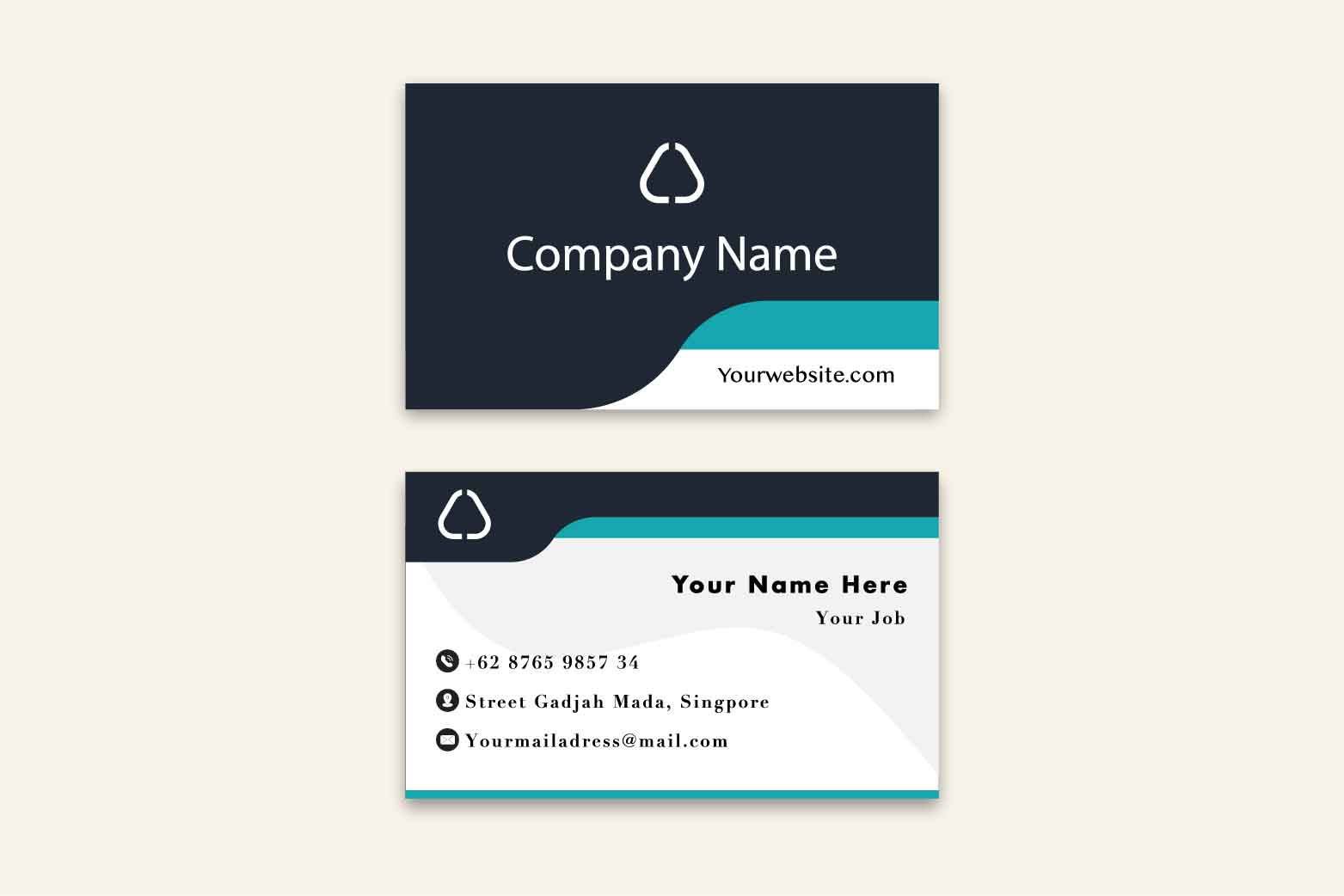 Simple Business Card Design example image 2