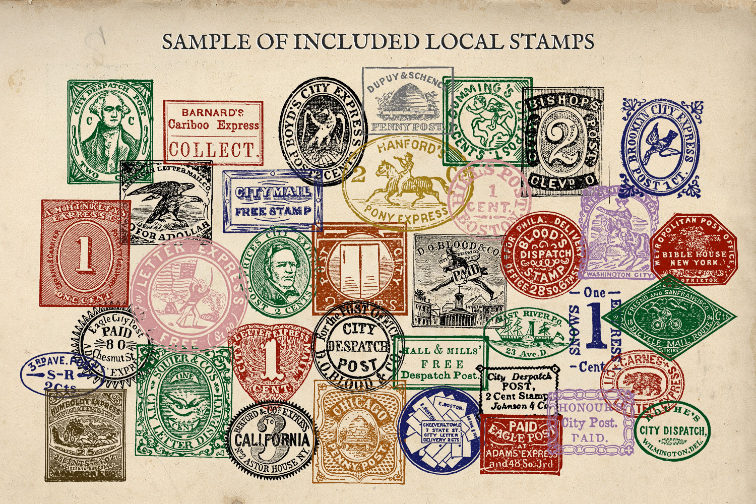 Antique US Stamp Graphics example image 2