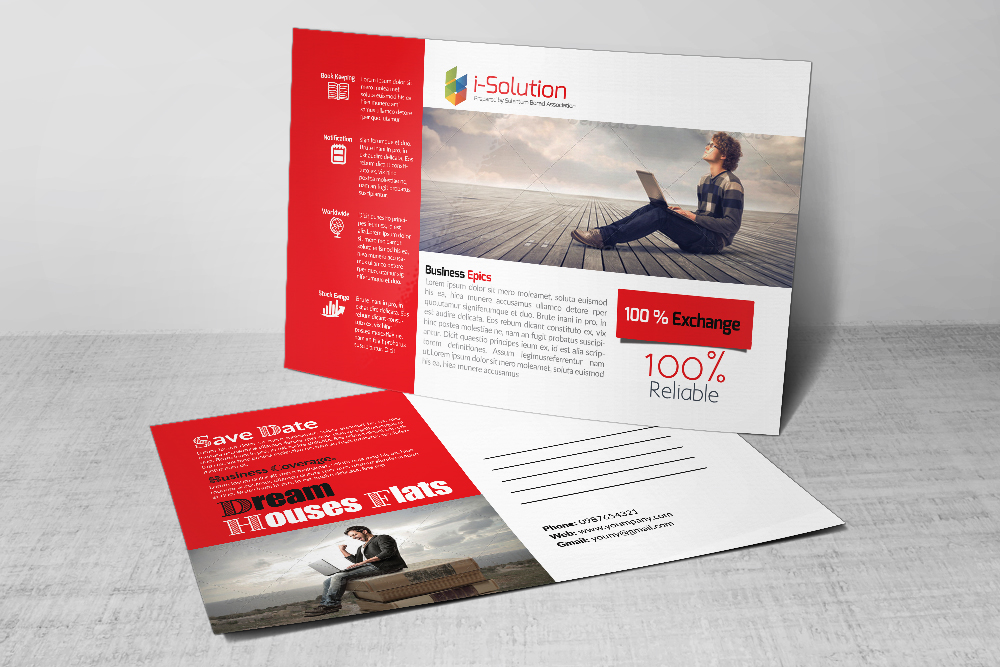 Business Solution PostCards example image 3