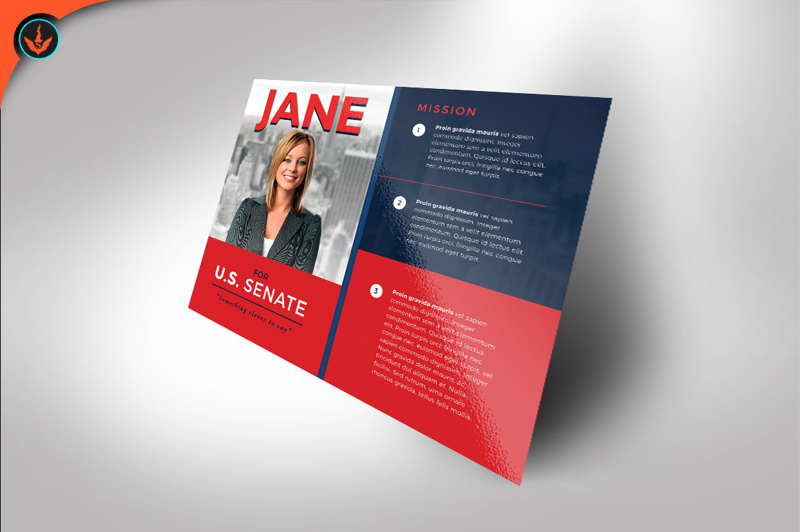 Political Flyer Photoshop, Word, Publisher Template 3 example image 3