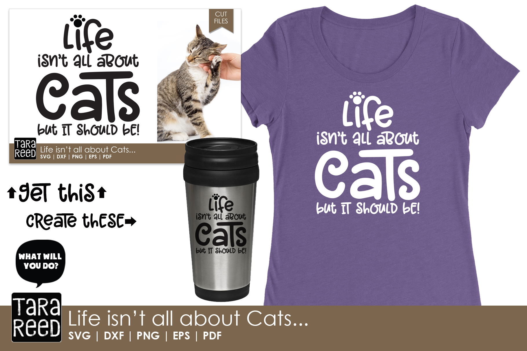 Life isn't all about Cats - Cat SVG and Cut Files example image 2