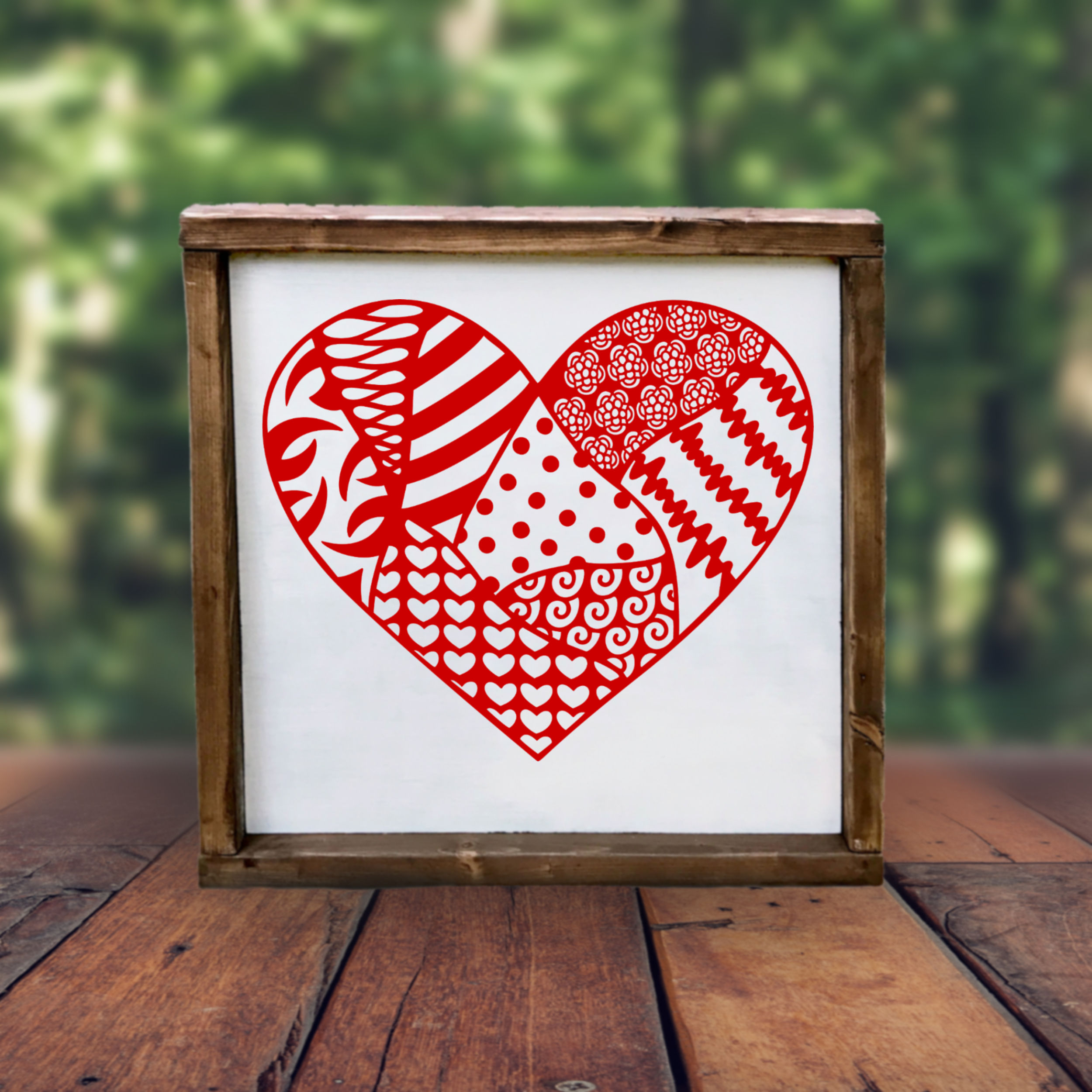 Heart SVG with doodle patterns example image 3