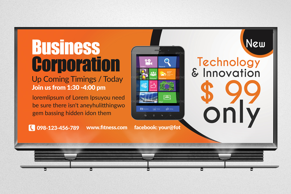Mobile Apps Billboard Banners example image 2