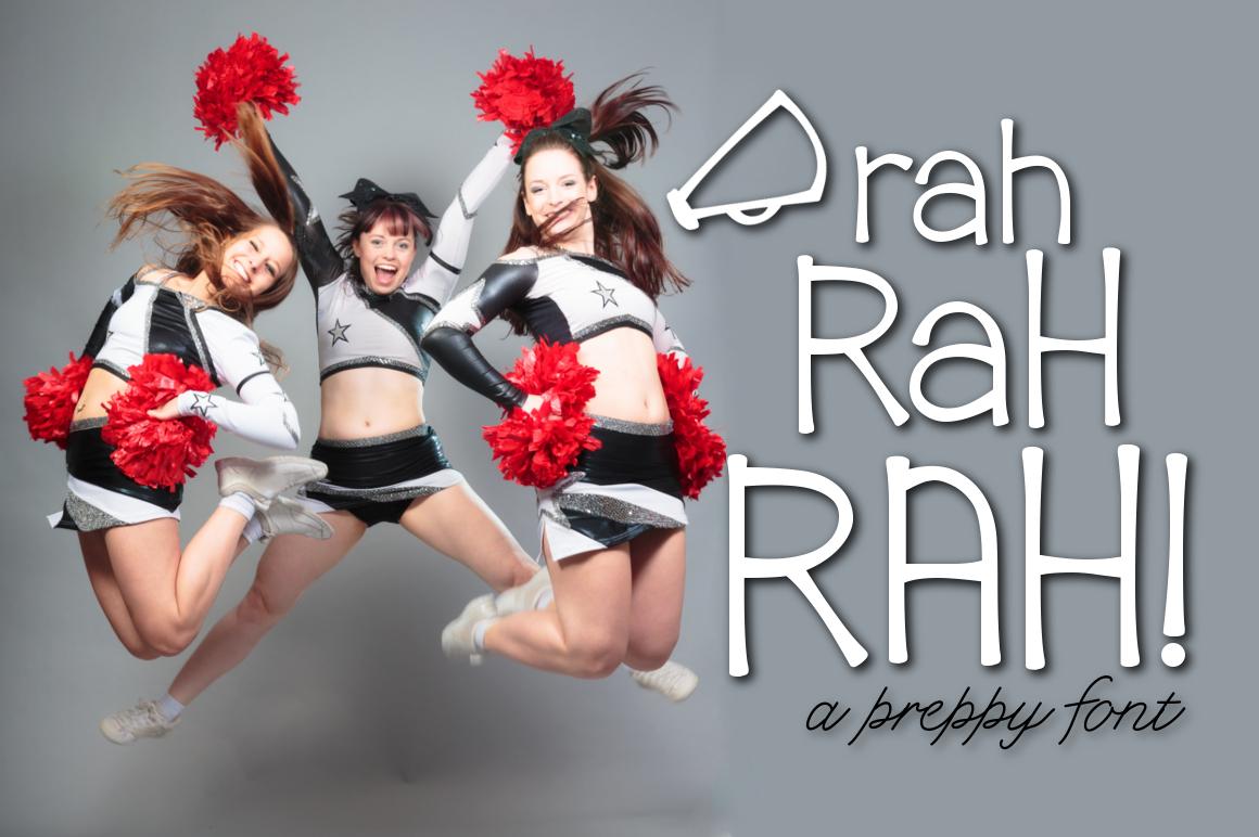 Rah Rah Rah a Preppy Font example image 1