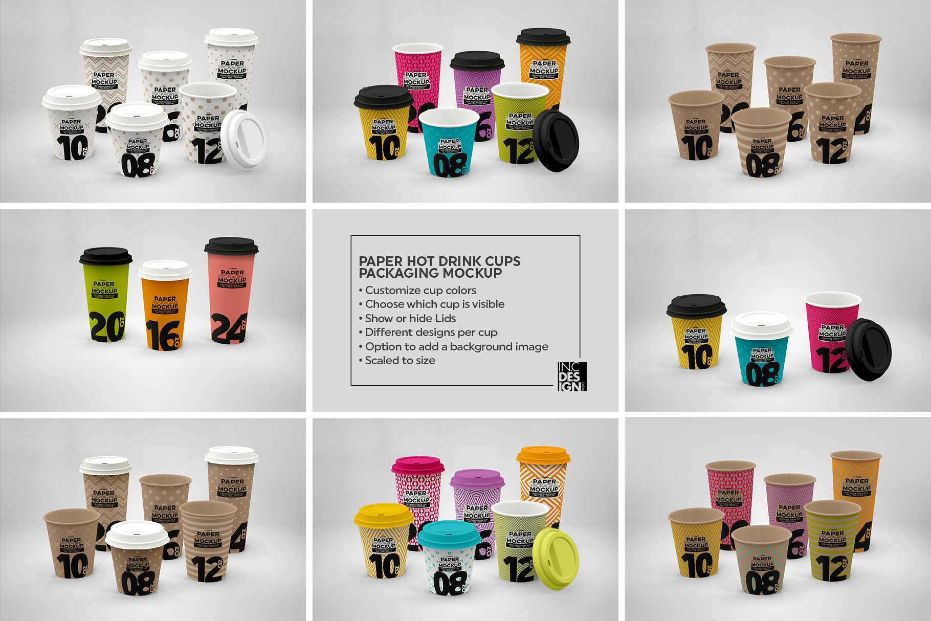 Paper Hot Drink Cups Packaging Mockup example image 6