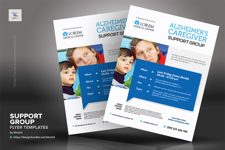 Support Group Flyer Templates example image 3