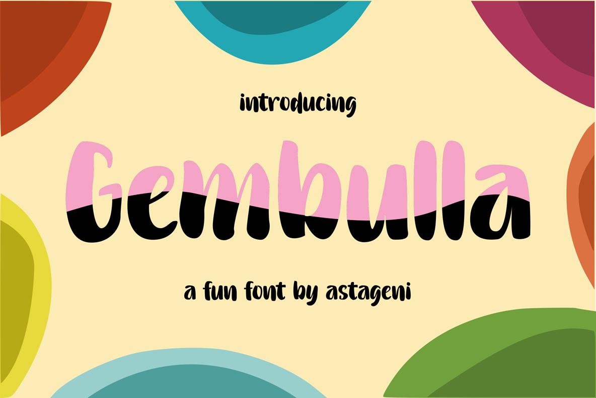 Gembulla   Fun Fonts example image 1