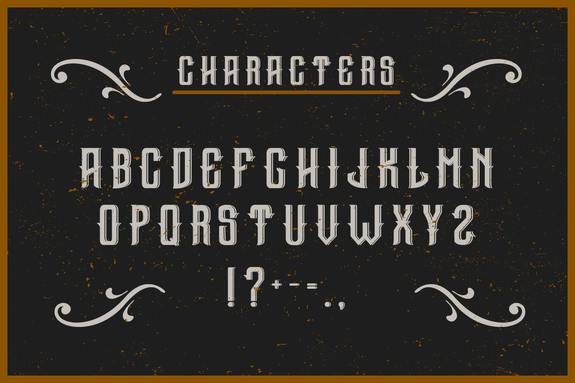 Gin handcrafted typeface example image 2