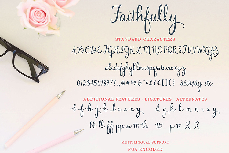 Faithfully - Hand Lettered Script Font example image 10