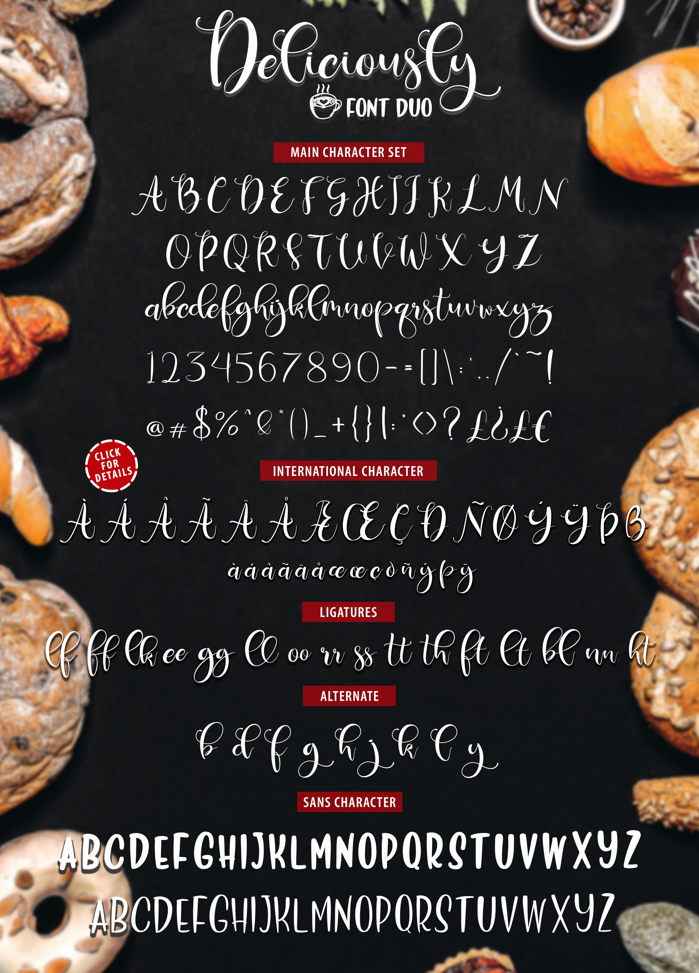 Deliciously Font Duo  Extras example image 11