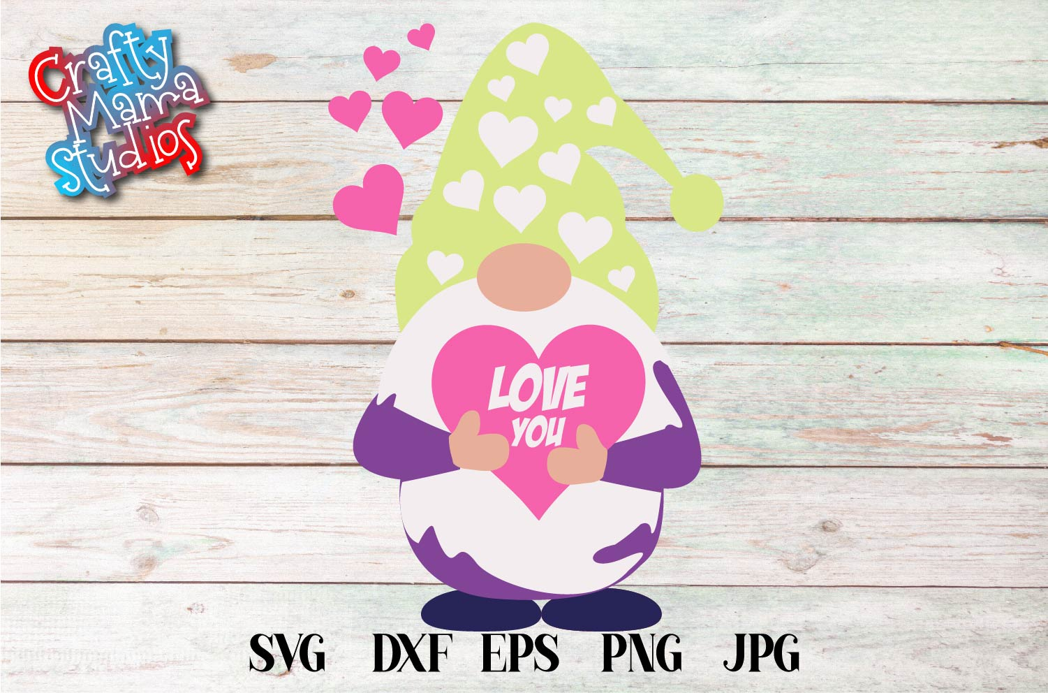 Valentine's Day SVG Valentine Gnome With Hearts Sublimation example image 2