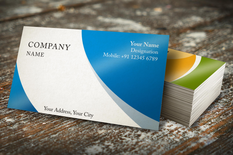 Photorealistic business card mockup set example image 5