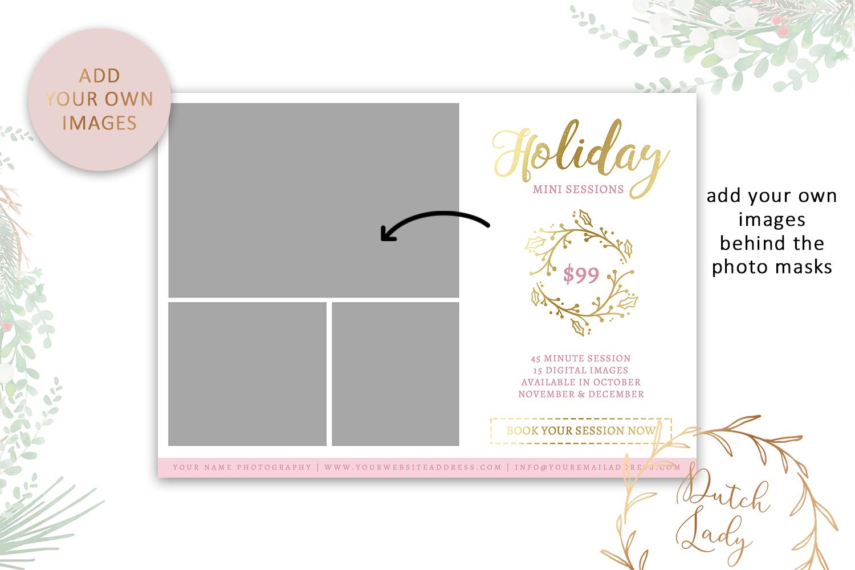 PSD Photo Mini Session Card Template - Design #20 example image 2