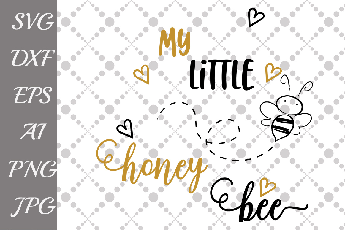 My little honey bee Svg example image 1