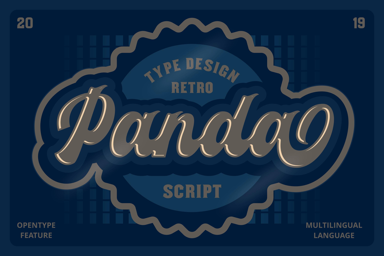 Panda Retro Script Font