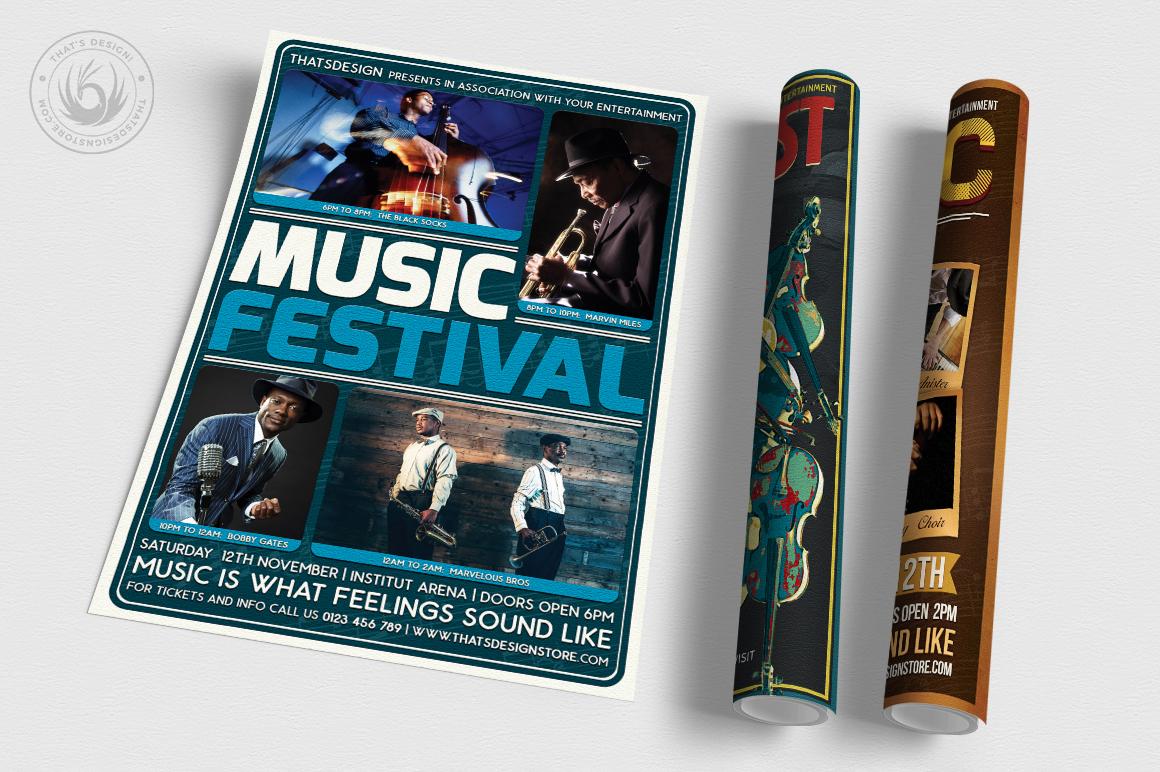 Concert Live Flyer Bundle V5 example image 3