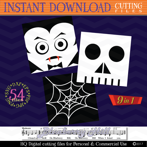 Halloween Monster Face svg - Halloween bundle Monster icons example image 5