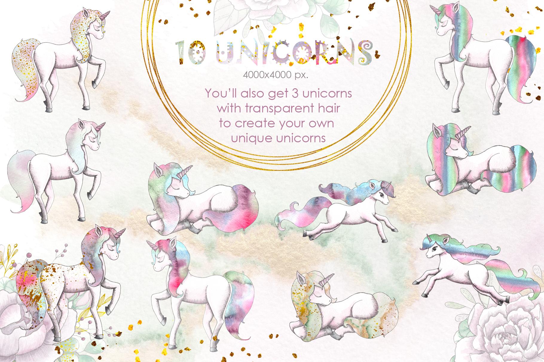 Charming Unicorns Bundle example image 19