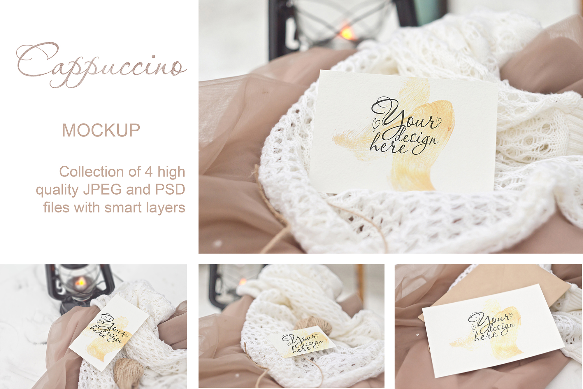 Cappuccino. Stationery Mockup Card example image 1