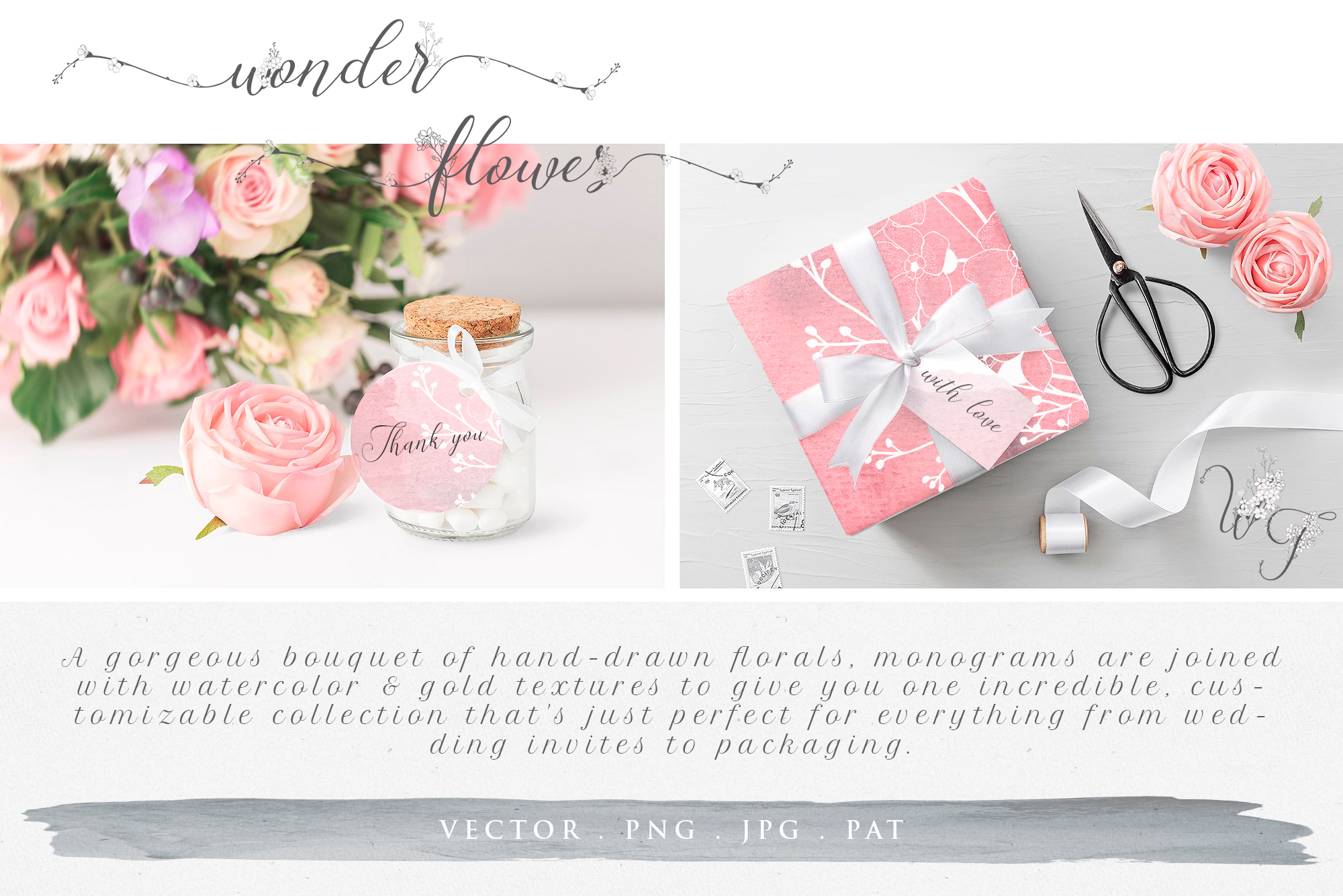 Flowered Monograms & Logo Collection example image 15