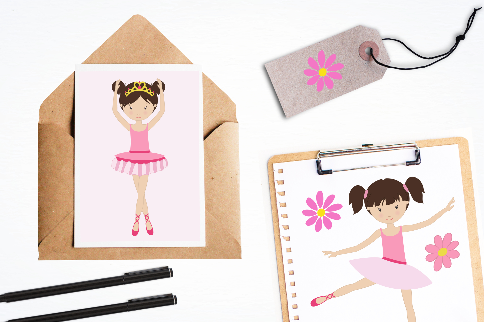 Dancing Ballerinas graphics and illustrations example image 4
