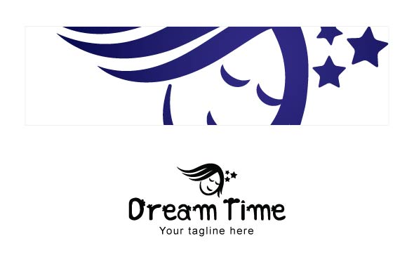 Dream Time - Sleeping Kid Stock Logo Template example image 3