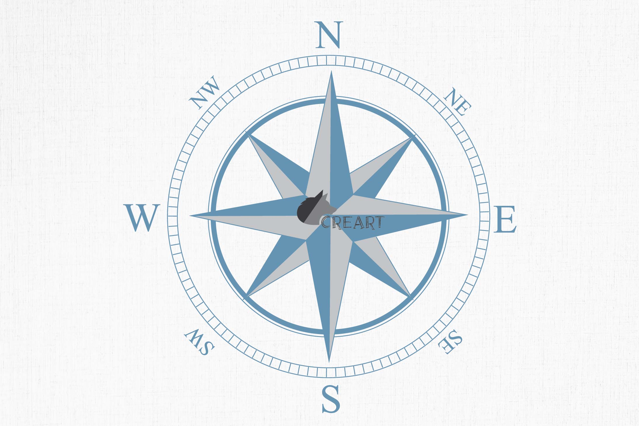 Compass rose navigation silhouette. Travellers decoration. example image 7