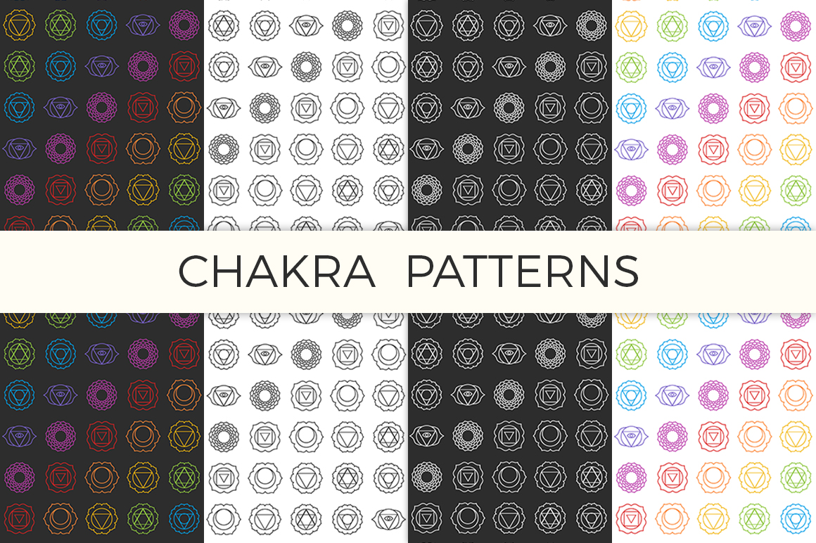 Chakra Symbols and Patterns Vector example image 6
