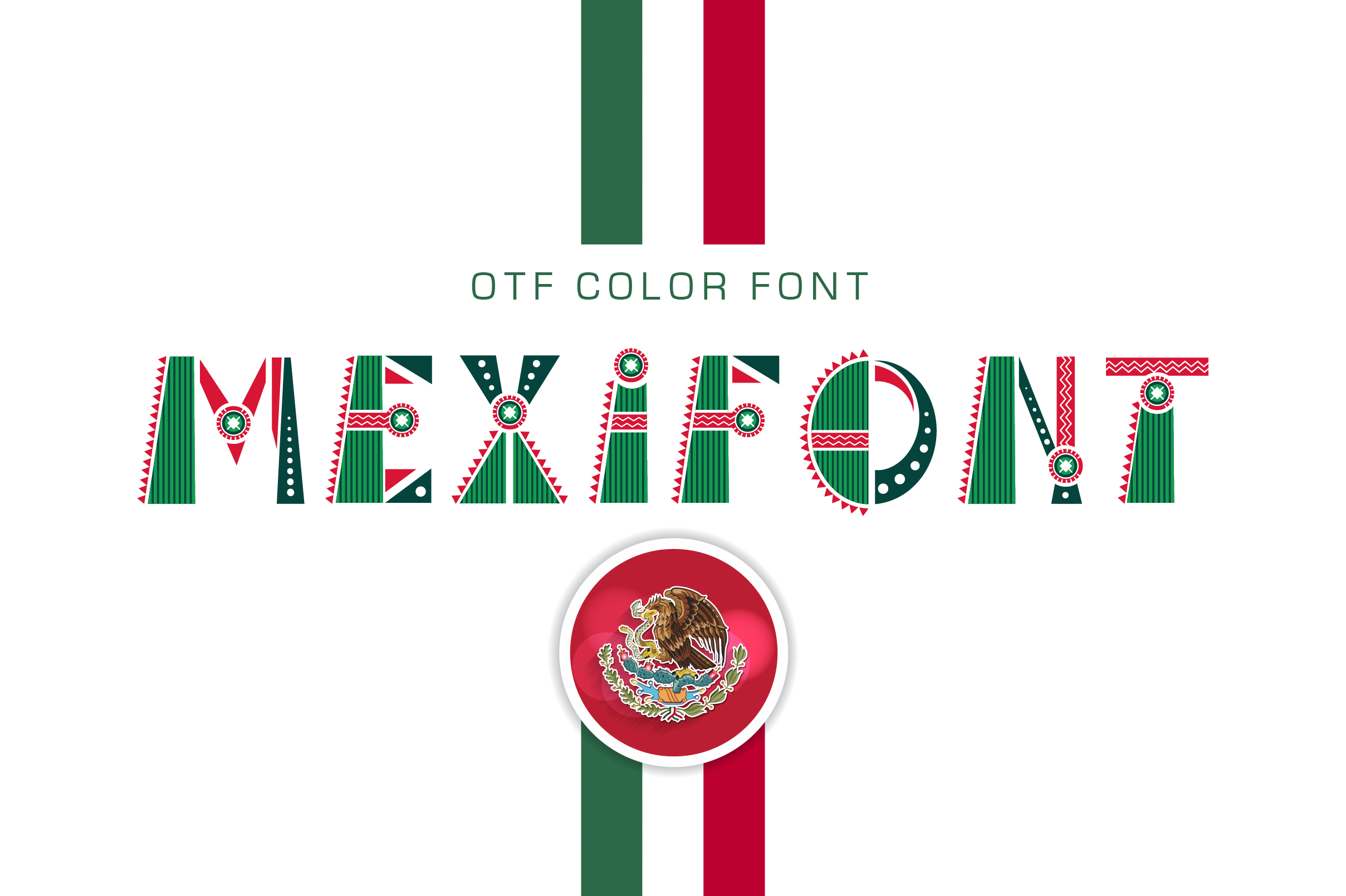 OTF color font Mexifont example image 1