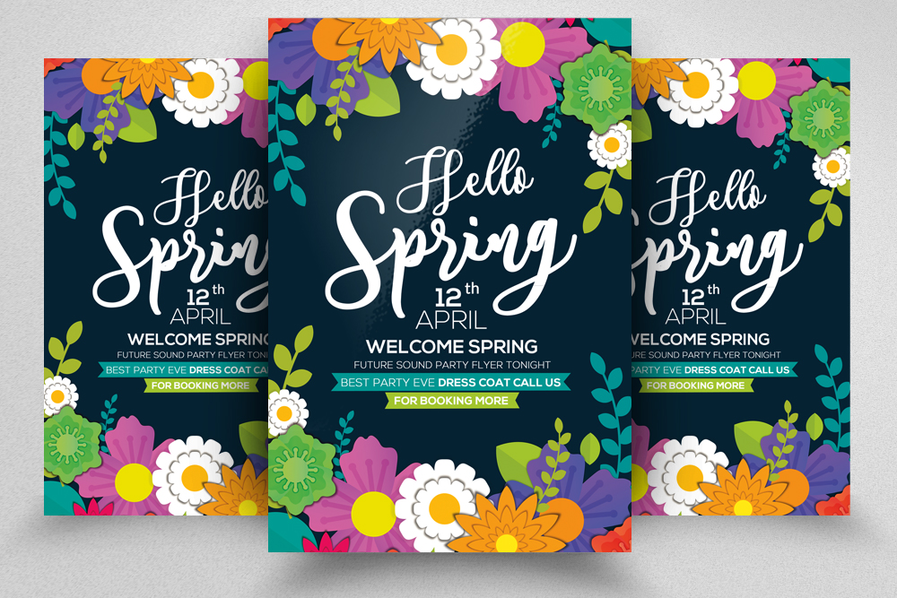 Coming Soon Spring Flyer Template example image 1