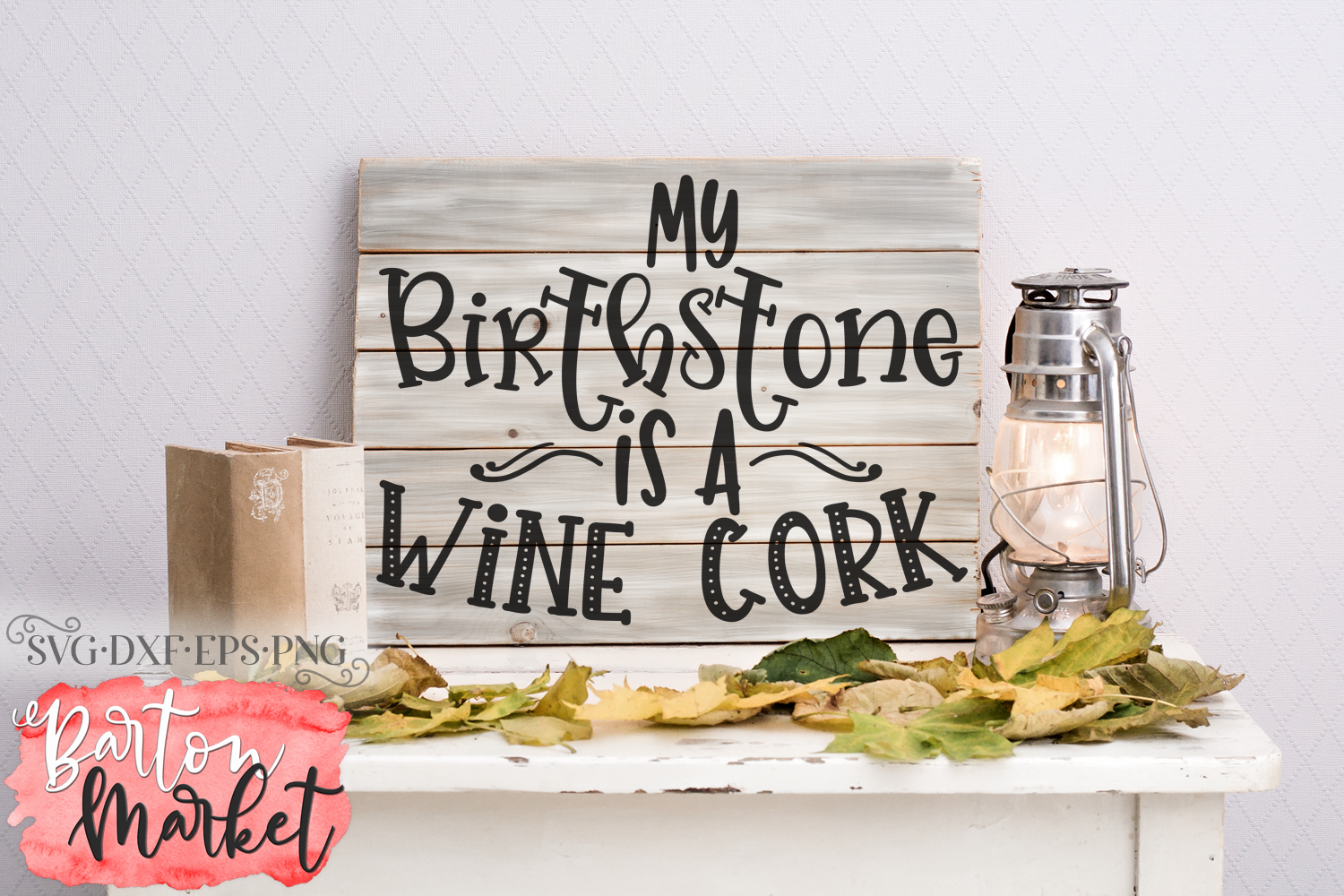 My Birthstone Is A Wine Cork SVG DXF EPS PNG example image 2
