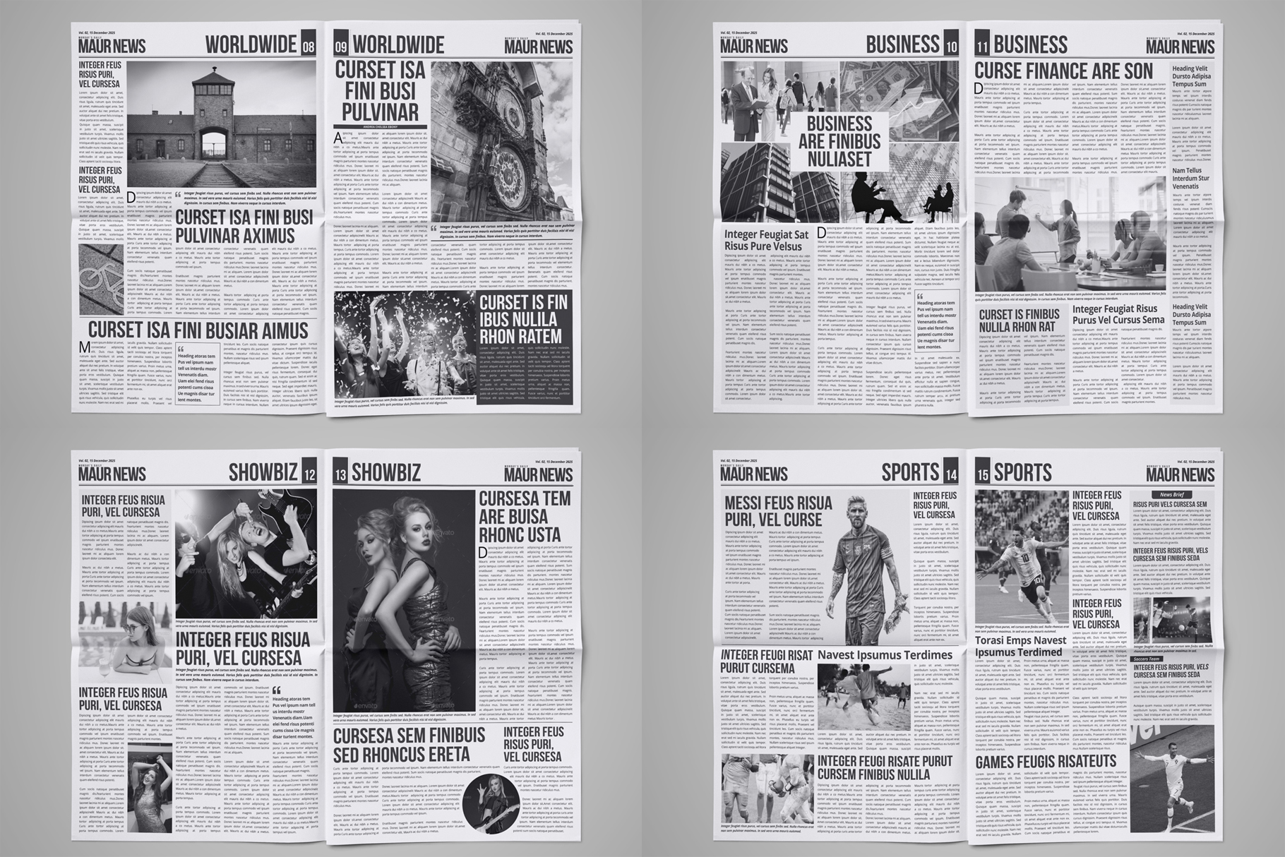 Newspaper Design Bundle - 3 in One example image 4