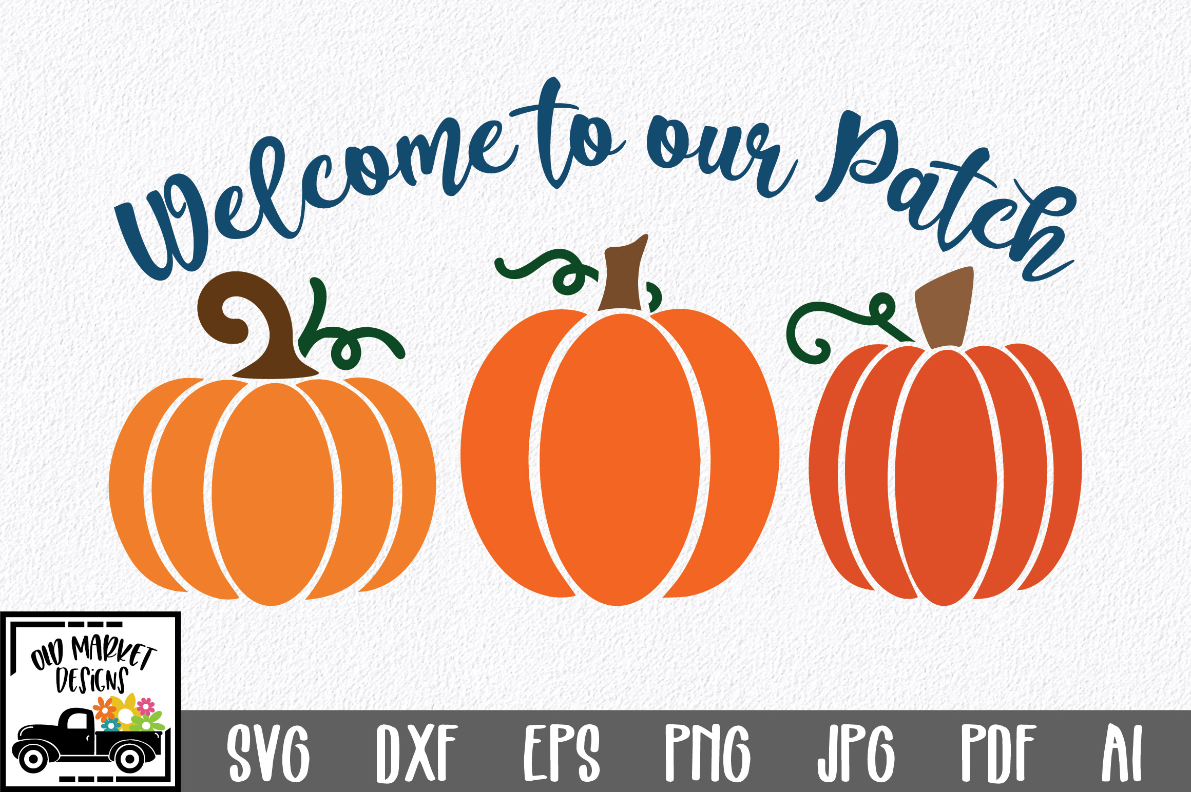 Welcome to our Patch SVG Cut File - Fall Pumpkin SVG example image 1