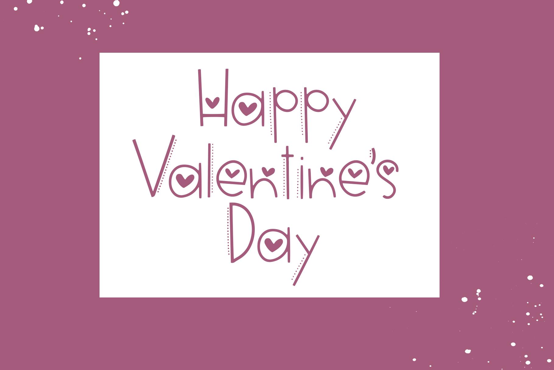 Hi Valentine - A Valentine's Day Font example image 5
